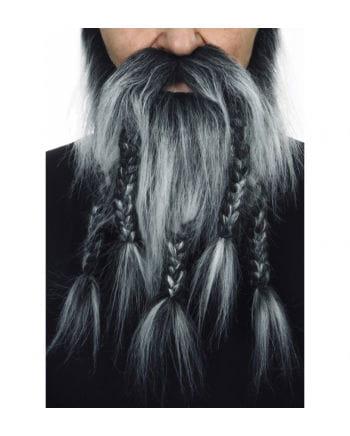Barbaren Kombi Bart Schwarz-Grau Meliert