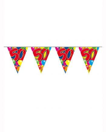 Geburtstagsgirlande Ballon 50 Jahre