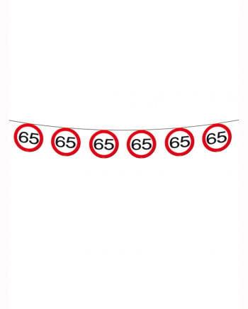 Geburtstagsgirlande Verkehrsschild 65