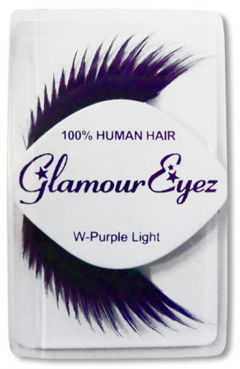 Human Hair Eyelashes Purple