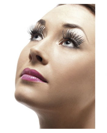 Eyelashes black silver Holographic
