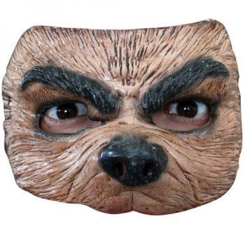Halbmaske brauner Wolf