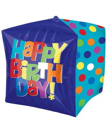Happy Birthday Würfelballon