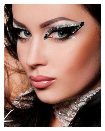 Xotic Eyes Glitter schwarz silber