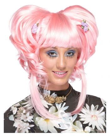 Damenperücke Yuki pink