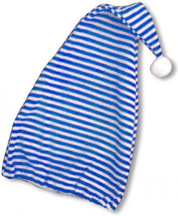 Zipfelmütze blau/ weiss