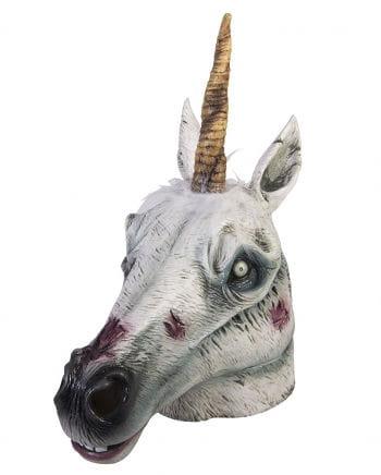 Zombie Unicorn Latex Maske