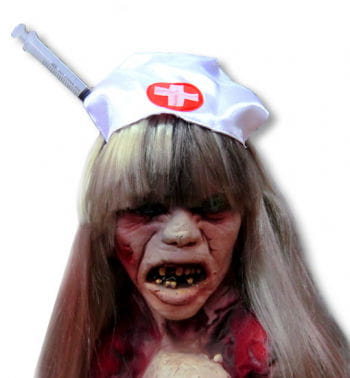 Zombie Nurse Hat with Syringe