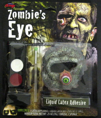 Zombie Make Up mit blutigem Auge