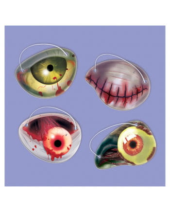 12-teiliges Zombie Augenklappenset