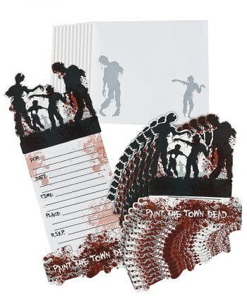 Einladungskarten Zombiemotiv