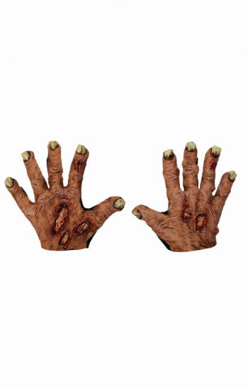 Zombie fleischige Handschuhe