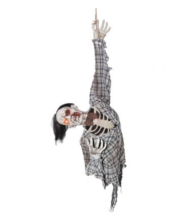 Zombie Ghoul Hanging Figure with Motion & Sound