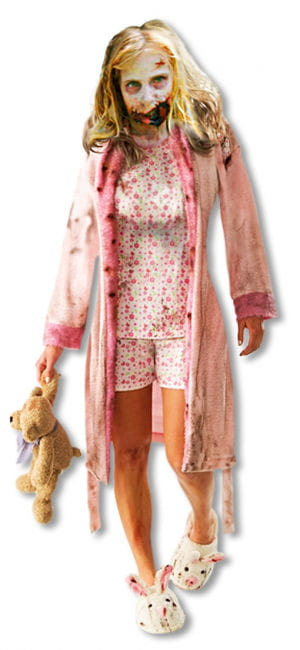Zombie Girl Child Costume L