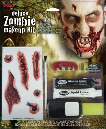Zombie Make-Up mit Tattoos