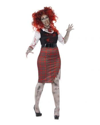 Zombie Schoolgirl Costume XL