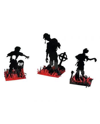 Zombie Tischdekoration 3er Set