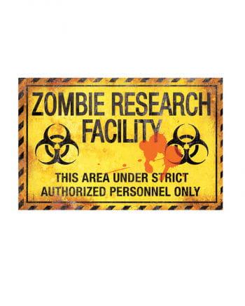 Zombie-Labor Warnschild