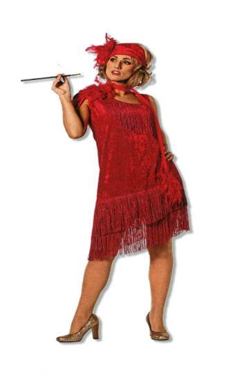 Flapper-Kleid rot XXL