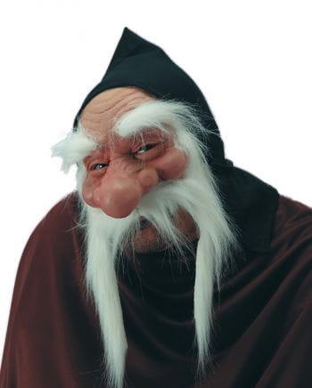 Zwergen Maske mit weißem Bart