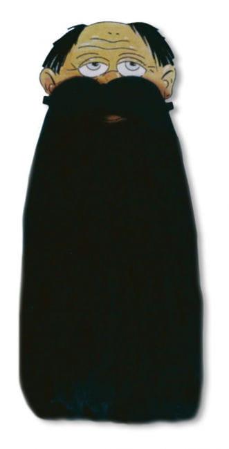 Zwergenbart schwarz