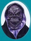 Crakled Skull Maske Lila