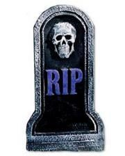 Small grave stone with Skulll purple RIP 40cm