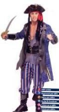 Piratenkapitän Kostüm Gr. M