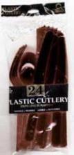 Plastic cutlery black