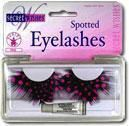 Feather eyelashes Pink polka dots