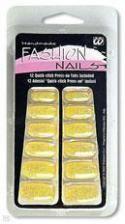 Glitzer Fingernägel gelb