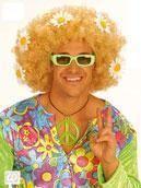 Flowerpower Afro Wig Blond