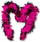 Feather Boa Pink Black
