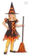 Hexen Kinderkostüm orange