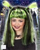 Halloween Kinderperücke grün