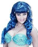 Mermaids wig blue