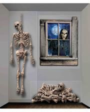 3 pcs. Halloween skeleton wall film