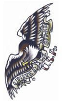 Adler Aufklebe Tattoo