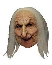Old Witch mask with gray hair