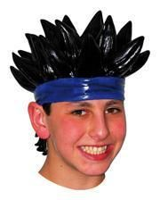 Anime wig with spiky black