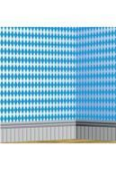 Bayrische Rautenmuster Wandfolie weiß/blau