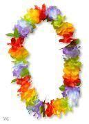 Hawaii Blumenkette bunt