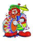 Deko Clown Musikus