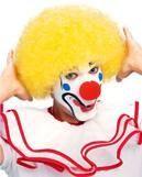 Gelbe Clown Perücke
