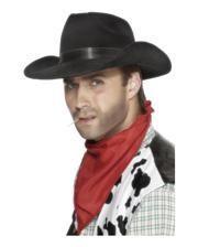 Cowboy hat with black hatband