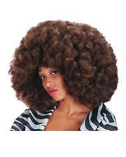 Crazy Disco Afro Wig coffee heather