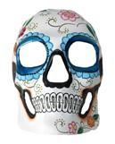 Day of the Dead Totenkopf Maske Blumenrelief