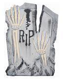 Grave stone RIP skeleton arms