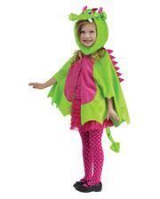 Drachen-Cape mit Mütze grün-pink