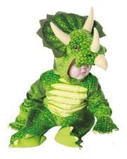 Dreihorn Dino Kinderkostüm Grün XL